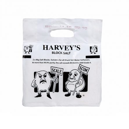 Harveys Block Salt 8KG Packs (2x4KG)